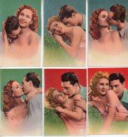 REF 326  :  Lot 6 Petites Chromo Couple Amoureux Sexy - Vecchi Documenti