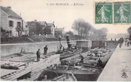 """PENICHE - 78 - LES MUREAUX Bon Plan Péniche """" LE NIGER """" Et L'Ecluse  - CPA Yvelines Barge Lastkähne Aken Chiatte - Les Mureaux"""