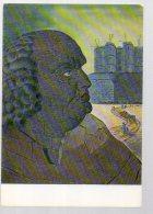 REF 336  :  CPM 1972 Man Ray Portrait Imaginaire Du Marquis De Sade - Pittura & Quadri