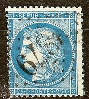 SUPERBE CERES N°60 A 25c Bleu Oblitéré Losange GC 3879 - 1871-1875 Cérès
