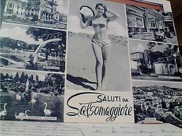 PIN UP RAGAZZA IN COSTUME  E VEDUTE DI SALSOMAGGIORE   VB1963 GU2945 - Pin-Ups