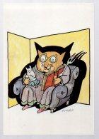 REF 335  :  CPM Tomi UNGERER Chat 1994 - Ilustradores & Fotógrafos