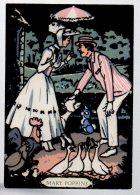REF 335  :  CPSM Carte En Velour Disney Mary Poppins - Disney