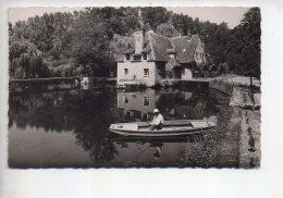 REF 309  :  CPSM 28 JOUY Moulin De La Roche Timbre Taxe Au Verso - Jouy