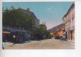 REF 309  :  CPA 66 LE PERTHUS Avenue D'espagne Pompe à Essence Azur - Francia
