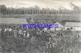 97082 PARAGUAY HOHENAU COLONY GERMANY COSTUMES CART A HORSE CIRCULATED TO ARGENTINA POSTAL POSTCARD - Paraguay