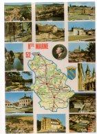 REF 324  :  CPSM Carte Géographique Département Haute Marne 52 - Maps