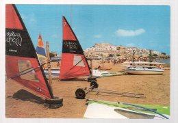 REF 325  :  CPSM Espagne Spain Peniscola Char à Voile - Spanien