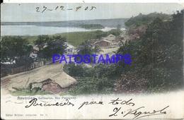 97084 PARAGUAY ASUNCION SALINARES RIO PARAGUAY CIRCULATED TO ARGENTINA POSTAL POSTCARD - Paraguay