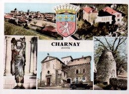 REF 318  :  CPSM 69 CHARNAY Multivues - France
