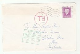 1975 NETHERLANDS UNDERPAID  T 20/60 COVER To Waltham Cross GB  2  1/2p TO PAY - Period 1949-1980 (Juliana)
