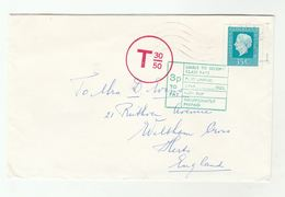 1978 NETHERLANDS UNDERPAID  T 30/50 COVER To Waltham Cross GB  3p TO PAY - Period 1949-1980 (Juliana)