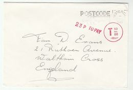 1980 NETHERLANDS UNDERPAID  T 50/80 COVER To Waltham Cross GB 23p TO PAY - Period 1949-1980 (Juliana)