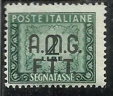 TRIESTE A 1947 - 1949 AMG-FTT SOPRASTAMPATO OVERPRINTED SEGNATASSE TAXES TASSE POSTAGE DUE LIRE 2 MNH - 7. Trieste