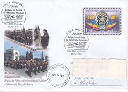 MOLDOVA  MOLDAVIE  MOLDAWIEN  MOLDAU  2011 ; Special Police Brigade ; Pre-paid Envelope ; FDC - Police - Gendarmerie