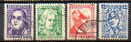PAYS-BAS - (Royaume) - 1928 - N° 215 à 218 - (Au Profit Des Oeuvres Pour L'enfance) - 1891-1948 (Wilhelmine)