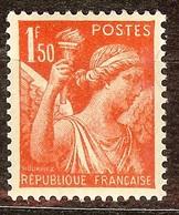 SUPERBE IRIS N°435 1F50 Orange NEUF Avec GOMME** Cote 0,30 Euro - 1939-44 Iris