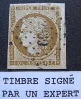 R1749/291 - CERES N°1a Bistre Brun - Signé Par 2 Experts - PC 2339 : ORIGNY STE BENOITE (Aisne) IND 7 - Cote : 450,00 € - 1849-1850 Ceres