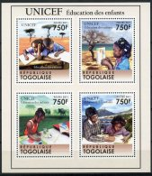 Togo, 2011, UNICEF, Education, United Nations, MNH, Michel 4049-4052 - Togo (1960-...)