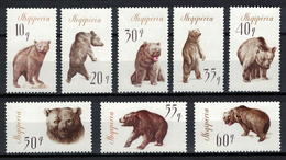 Albania 1965 _ The Brown Bear _ Full Set - MNH** - Albania