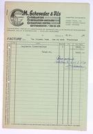 Facture Ancienne SCHROEDER Ettelbrück Luxembourg 1949 - Luxembourg