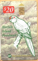 Norfolk Island - NF-NOT-0014, Norfolk Island Green Parrot, 20 $, 2000ex, 2000 / ED:12/04, Used - Norfolk Island