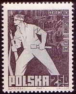 Poland 1963 Mi 1391 Jews 20th Anniversary Of The Ghetto Uprising An Insurgent With A Weapon. Grenade Rifle, MHN** W724 - Ungebraucht