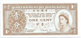 Hong Kong 1 Cent 1971-81 Pick 325b UNC - Hong Kong
