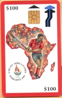 Zimbabwe - ZIM-05, 6th All Africa Games - Red, Sports, GEM2 (Black/Grey), 100 Z$, 40.000ex, 8/95-ED. 9/98, Used - Simbabwe