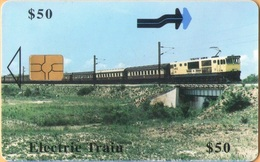 Zimbabwe - ZIM-29, Electric Train, Railways, GEM5 (Black), 50 Z$, %80.000ex, 12/00, Used - Zimbabwe