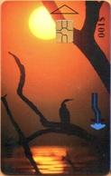 Zimbabwe - ZIM-36, Sunset Over Lake Kariba, Lakes, GEM5 (Black), 100 Z$, 12/01, Used - Simbabwe