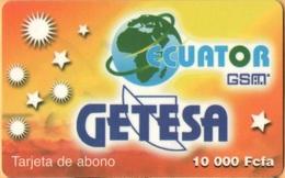 Equatorial Guinea - GQ-GET-REF-0004, GSM, Mobile Refill, Yellow – Getesa, Used - Equatorial Guinea