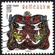 Oblitération Moderne Sur Adhésif De France N°  943 -  Féérie Astrologique - Gémeaux - France