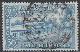 ETHIOPIA    SCOTT NO. E4    USED     YEAR  1954     WMK--282 - Etiopia
