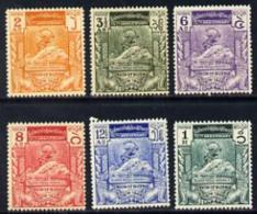 1532 Burma 1949 KG6 75th Anniversary Of Universal Postal Union Set Of 6 (slightly Soiled Gum) SG 114-119 (UPU KG6) - Burma (...-1947)