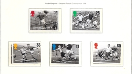 GREAT BRITAIN Football Legends1996 Set Of 5 MNH Scott 1663-67 SG 1925-29 - 1952-.... (Elizabeth II)