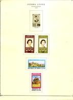 SIERRA LEONE Album Page 1977 Includes Scott 440-443 SG 597-600 MH - Sierra Leone (1961-...)