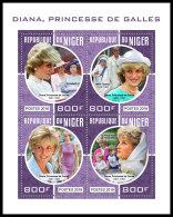 NIGER 2018 MNH** Princess Diana Mother Teresa Mutter Teresa Mere Teresa M/S - IMPERFORATED - DH1830 - Mère Teresa