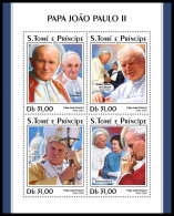 SAO TOME 2018 MNH** Mother Teresa Mutter Teresa Mere Teresa Pope John Paul II. M/S - IMPERFORATED - DH1830 - Mère Teresa