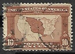 US  1904  Sc#327   10c  Map  Used   2016 Scott Value $30 - Etats-Unis