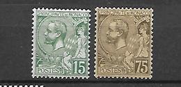 Monaco  1891 - 1920 Albert 1 Er   Cat Yt N° 19, 44     N* MLH - Monaco