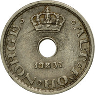 Monnaie, Norvège, Haakon VII, 10 Öre, 1937, TTB, Copper-nickel, KM:383 - Norvège