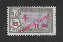French India 1943,16ca On 3R,Scott # 205,VF MLH*OG (FC-6) - India (1892-1954)