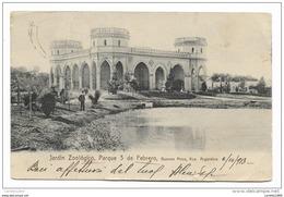 BUENOS AIRES - JARDIN ZOOLOGICO, PARQUE 3 DE FEBRERO 1913 VIAGGIATA FP - Argentina