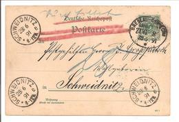 Bahnpost Breslau-Oswiecim Zug 8. 3x Schweidnitz - Briefe U. Dokumente