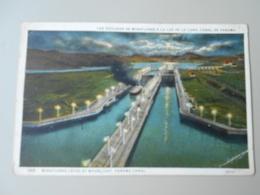 PANAMA MIRAFLORES LOCKS BY MOONLIGHT PANAMA CANAL LAS EXCLUSAS DE MIRAFLORES A LA LUZ DE LA LUNA - Panama