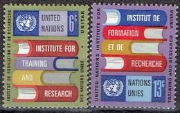 UNITED NATIONS # NEW YORK FROM 1969 STAMPWORLD 208-09** - New York - Sede De La Organización De Las NU