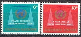UNITED NATIONS # NEW YORK FROM 1969 STAMPWORLD 214-15** - New York - Sede De La Organización De Las NU