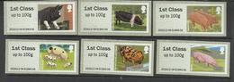 GREAT BRITAIN GRAN BRETAGNA 2012 FIRST CLASS FAUNA PIGS SELF-ADHESIVE COMPLETE SET SERIE COMPLETA MNH - 1952-.... (Elisabetta II)
