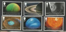 GREAT BRITAIN GRAN BRETAGNA 2012 SPACE SPAZIO COMPLETE SET SERIE COMPLETA MNH - 1952-.... (Elisabetta II)